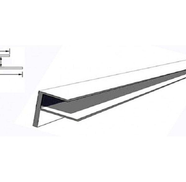 F-профиль для гипсовинила 12 мм