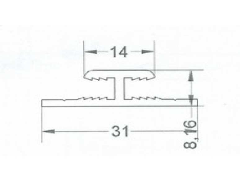 Двутавр под композит 4 мм